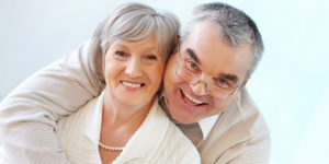 male and female dental implant dentures patients