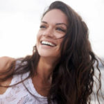 Botox and Cosmetic patient testimonial, confident  woman smiling