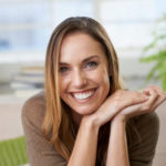 Botox and Cosmetic patient testimonial, friendly woman smiling